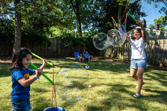 Backyard Bubble Fun